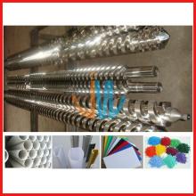 Baril bimétallique à double vis parallèle pour machine d'extrusion de PVC