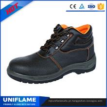 Sapatos de segurança de couro En20345 de homens de couro Ufa007