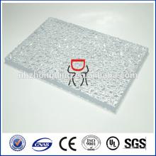 hoja de policarbonato texturizada helada / hoja de policarbonato texturizada gofrada