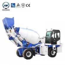 New design 2.0 m3 self loading  mobile concrete mixer truck for sale