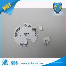 Etiqueta adesivo permanente de alta qualidade, adesivos destrutivos da etiqueta de segurança de vinil, etiqueta Graffiti de casca de ovo