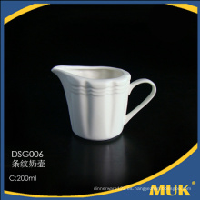 200ml de diferentes tamaños de hueso fino de China pura jarra de leche blanca