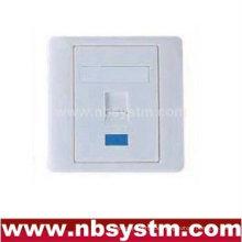 86 Typ Faceplate 86x86mm abgewinkelt, ein Port mit Farbe lcom & Winkelverschluss
