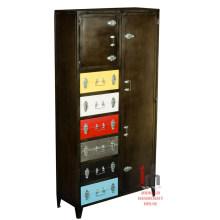 Cajones industriales de color elegante muebles de dormitorio de hierro armario alto armario