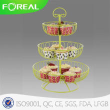 3-Tiers 13PCS Metal Wire Cupcake Stand