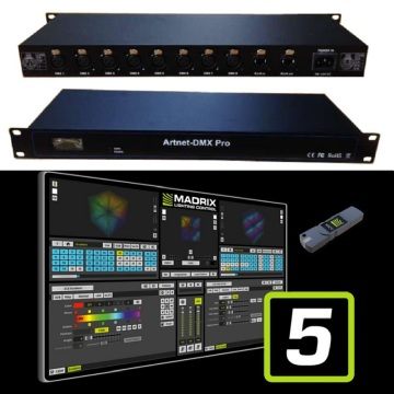 Controlador de nodo Sound to Light ArtNet SPI