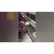 Sardine can seamer machine with automatic weighing