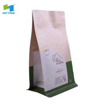 Stand up kraft paper mylat bag custom print dengan ziplock