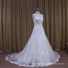 Na moda bonito feito por beleza nupcial vestido de casamento de fábrica