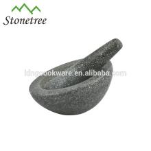 16.5*10cm large natural stone granite slope front mortar and pestle