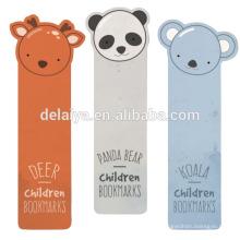 Custom Lovely Animals Shape Paper Bookmark for Book Reading
