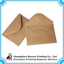 muestra gratis de lujo personalizado impresión de sobres de papel kraft