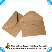 бесплатный образец роскошные пользовательские крафт-бумага конверт печать