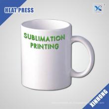 venta al por mayor fácil personalizar la taza de café de cerámica en blanco del logotipo 11oz