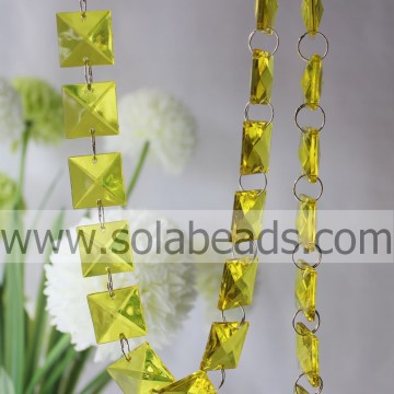 Chain Trim 8 * 20 * 20 MM Crystal acryl Ring Beaded Trim