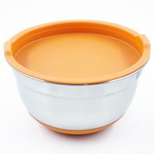 Conjunto popular de tigela de mistura de salada para cozinha em aço inoxidável