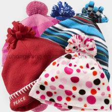 Sombrero / casquillo polar hechos punto vendedores calientes del paño grueso y suave