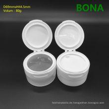80g Gesichtscreme-Plastikglas mit Flip Top Cap