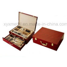 Mit Woode Case Travel Besteck Set Edelstahl Besteck Set