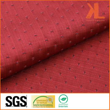 Polyester Jacquard Rouge / Marine Inhérence Fire / Flame Retardant Fireproof Fabric