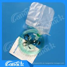 Máscara desechable de oxígeno con bolsa de oxígeno