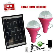 Mejor precio solar luces con control remoto, sistema de iluminación solar para mini interior, led solar kit de la luz