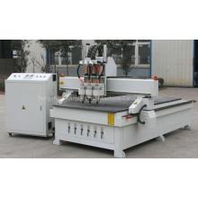 Machine pneumatique de routeur de commande numérique par ordinateur de bois de trois têtes