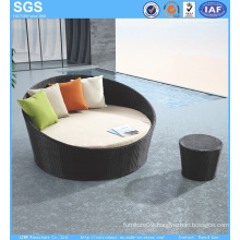 Patio Furniture Outdoor Rattan Round Sofa Daybed