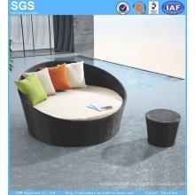 Rattan Daybed Round Sofa Outdoor Garden Furniture Ln-021