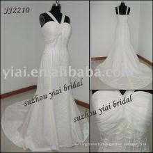2011 Real Manufacture Chiffon Wedding dress JJ2210