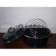 Porcelain Enamel Roasting Pan With Rack