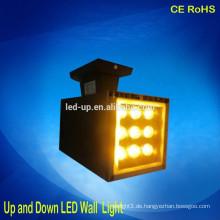 Hohe Leistung 9 * 1w rechteckige LED-Wandleuchte oben und unten geführte Lichter
