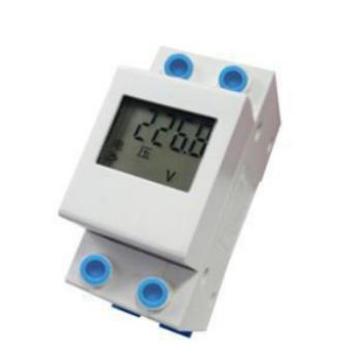 Medidor de energia elétrica do trilho de guia monofásico da fonte de alimentação de