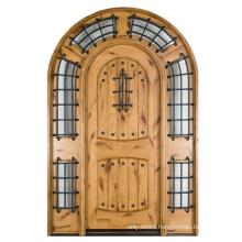Solid Wood Arched Exterior Door