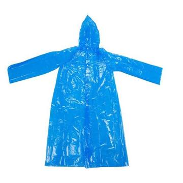 Blue Adult Disposable Raincoat