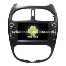 Vier Kern! Android 6.0 Auto-DVD für Peugeot 206 mit 6,2 Zoll kapazitiven Bildschirm / GPS / Spiegel Link / DVR / TPMS / OBD2 / WIFI / 4G