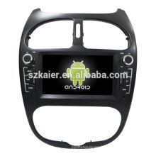 Quad core! Android 6.0 voiture dvd pour Peugeot 206 avec écran capacitif de 6,2 pouces / GPS / lien miroir / DVR / TPMS / OBD2 / WIFI / 4G