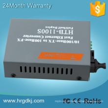 HTB1100 10 / 100Base TX para 100Base FX RJ45 Fast Ethernet Conversor de Mídia de Fibra Óptica