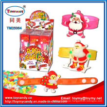 Plastic Flash Jewelry Christmas Toy with Candy
