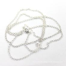 Заводская цена 2мм Серебряная цепочка ожерелья Rolo Длина 50 + 5 см