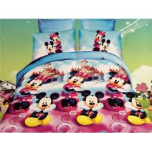 Die glücklichen Mickey tanzen Entwürfe Kinder Duvet Abdeckung Bett gesetzt Duvet Abdeckung
