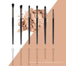 Kit de cepillos cosméticos para maquillaje de ojos de 6 piezas