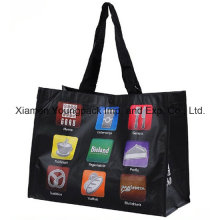 Custom Printed Large RPET Nwpp Laminated Shopper Tote Bag