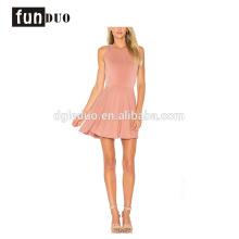 Vestido de falda corta sin mangas elegante Vestido de nuevo diseño sin mangas Vestido de falda corta elegante Vestido de nuevo diseño de moda