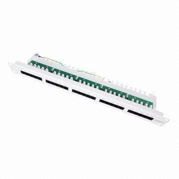 Cat3 Telephone Patch Panel with 25-Port