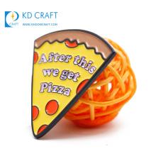 China manufacturers no minimum order custom metal stamped colorful soft enamel domino's pizza lapel pin badge