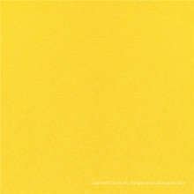 Tela de paño de felpa de gamuza de poliéster teñido de amarillo brillante