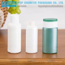 45ml - 100ml estilo diferente redonda/oval macio squeezable matt frasco do hdpe cosméticos