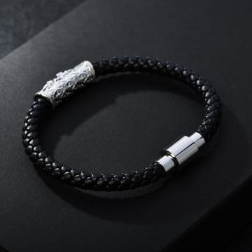 CZ 튜브 마그네틱 걸쇠 Geuine Leather Zenger Bracelet