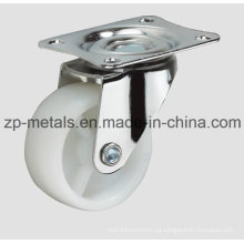 Branco-claro Duro PP sem freio roda de rodízio